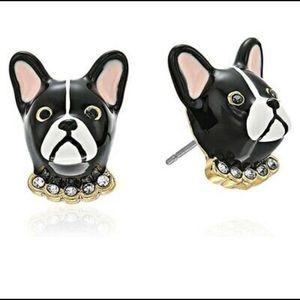 Kate Spade Ma Cherie Antoine Dog Stud Earrings